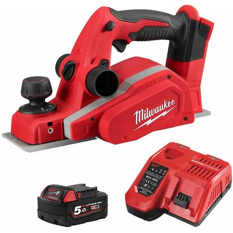 """main image of """"Milwaukee M18BP-0 18V Compact Planer 82mm with 1 x 5.0Ah Battery & Fast Charger:18V"""""""