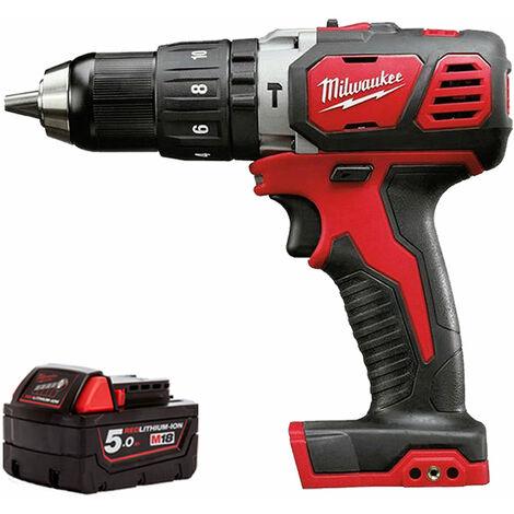 Milwaukee M18BPD-0 18V Cordless Combi Hammer Drill + 1 x 5.0Ah Battery