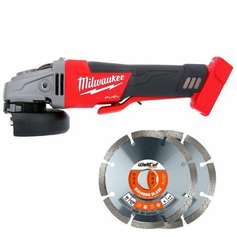Milwaukee M18CAG115XPDB 18v Angle Grinder With Diamond Blade Pack of 2
