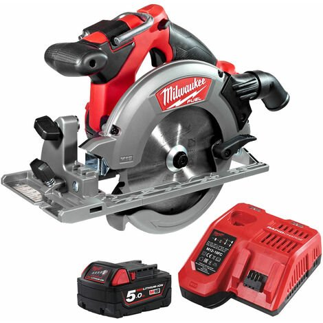 Milwaukee M18CCS55-0 18V Fuel Circular Saw 165mm with 1 x 5.0Ah Battery & Fast Charger:18V
