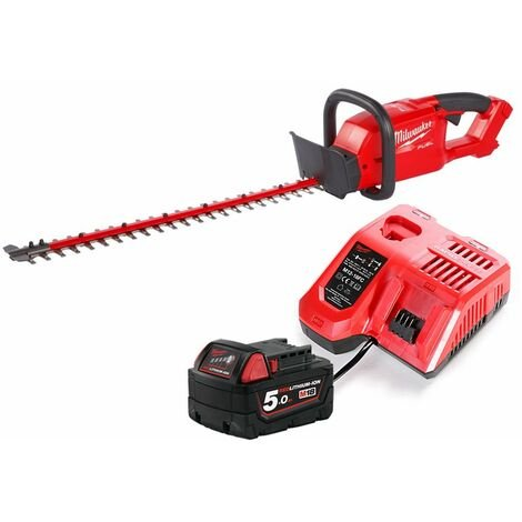 Milwaukee M18CHT 18V Fuel Hedge Trimmer With 1 x 5.0Ah Battery & Charger