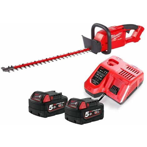 Milwaukee M18CHT 18V Fuel Hedge Trimmer With 2 x 5.0Ah Batteries & Charger