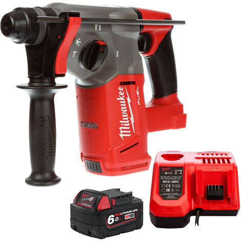 Milwaukee M18CHX-0 18V SDS Plus Hammer Drill with 1 x 6.0Ah Battery & Charger:18V