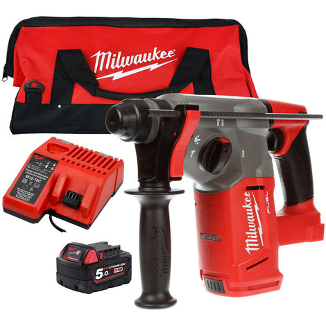 Milwaukee M18CHX-0 M18 SDS Hammer Drill 5.0Ah Battery Charger Tool Bag