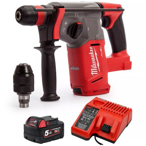 Milwaukee M18CHX-0 M18 SDS Hammer Drill With 1 x 5.0Ah Battery Charger