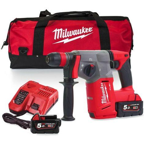 Milwaukee M18CHX-502X FUEL SDS-PLUS Hammer Drill 2 x 5.0Ah with bag
