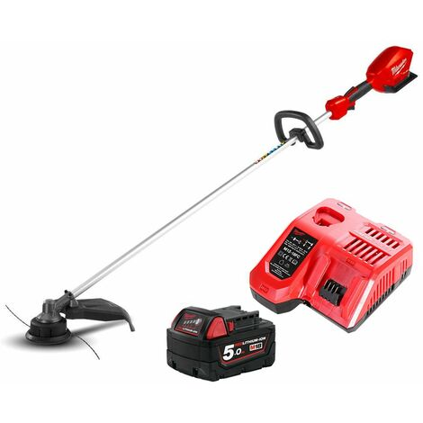 Milwaukee M18CLT 18V Fuel Straight Line Trimmer With 1 x 5.0Ah Battery & Charger