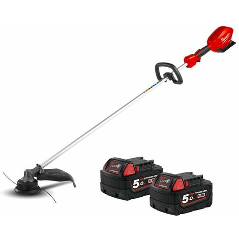Milwaukee M18CLT 18V Fuel Straight Line Trimmer With 2 x 5.0Ah Batteries
