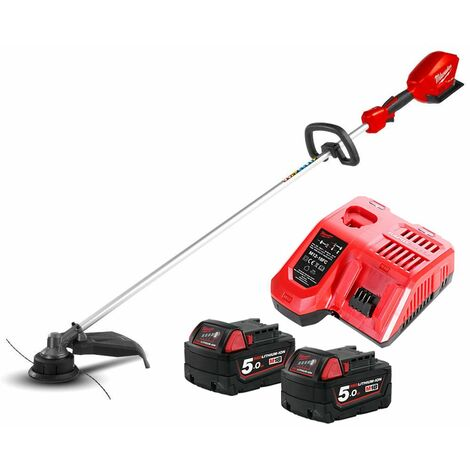 Milwaukee M18CLT 18V Fuel Straight Line Trimmer With 2 x 5.0Ah Batteries & Charger
