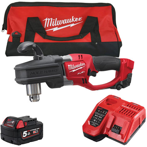Milwaukee M18CRAD-0 18V Angle Drill with 1 x 5.0Ah Battery & Fast Charger in Bag:18V