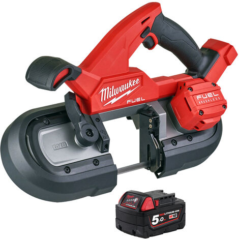 Milwaukee M18FBS85-0C 18V Brushless 85mm Band Saw with 1 x 5.0Ah Battery:18V