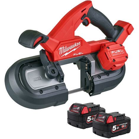 Milwaukee M18FBS85-0C 18V Brushless 85mm Band Saw with 2 x 5.0Ah Batteries:18V