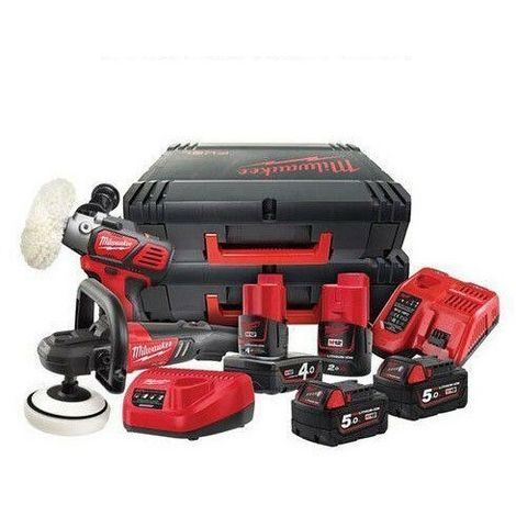 Milwaukee M18FPP2K-544X Fuel M12/M18 Cordless Polishers Kit 4933464190