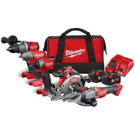 Milwaukee M18FPP5M-502B ) Cordless Tool Kit