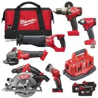Milwaukee M18FPP6B-503B 18V Fuel 6 Piece Power Pack with 3 x 5.0Ah Batteries