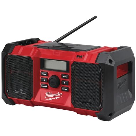 Milwaukee M18JSRDAB+-0 18V/240V DAB Jobsite Radio (Body Only)
