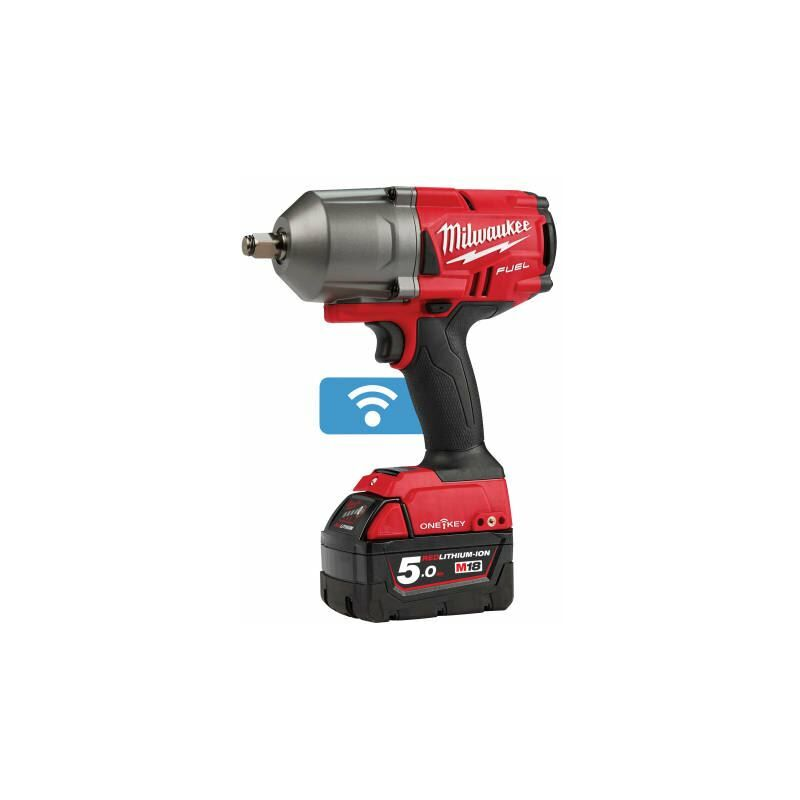 Image of Milwaukee Power Tools - M18 ONEFHIWF12-502X FUEL™ ONE-KEY™ 1/2in Impact Wrench 18V 2 x 5,0Ah Li-ion (MILM18OFWF12)