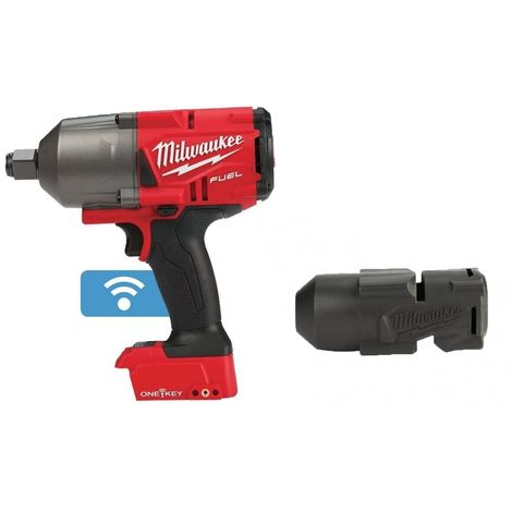 """Milwaukee M18ONEFHIWF34-0 FUEL 18v 2033Nm One Key 3/4"""" Impact Wrench and Rubber Sleeve"""