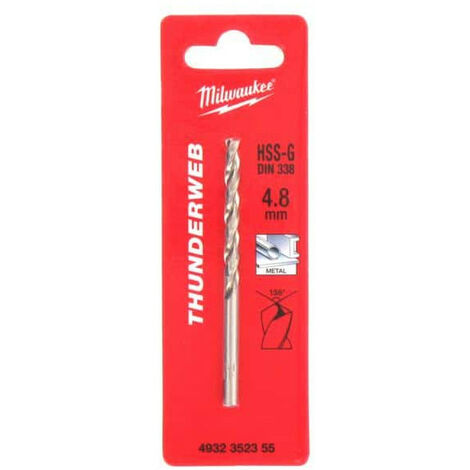 MILWAUKEE metal drill HSS-G THUNDERWEB 4.8 X 86MM 4932352355
