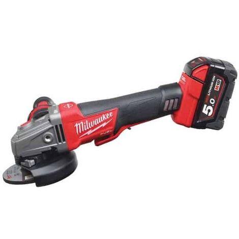 MILWAUKEE Meuleuse 18V 2x5Ah M18 CAG125XPDB-502X - 4933451544