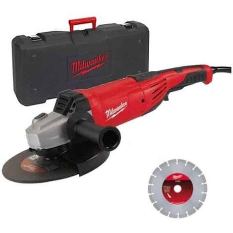 MILWAUKEE Meuleuse 230mm 2200W - AG22-230D-SET - 4933440292