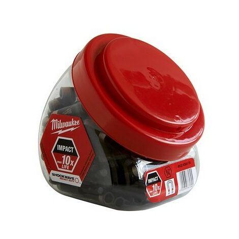 Milwaukee MIL430478 Impact Rated Mag Bit Holder Jar 100 Pieces