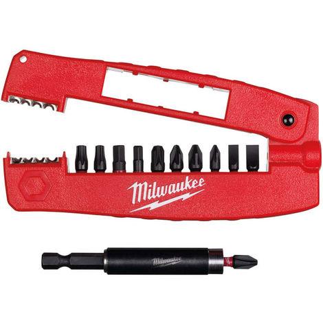 Milwaukee MIL430909 SHOCKWAVE Impact Duty Drive Guide & Wire Stripper Set 12 Piece