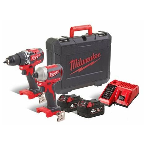 Milwaukee perceuse battant 18/ V 4,0/ Ah Compact Brushless