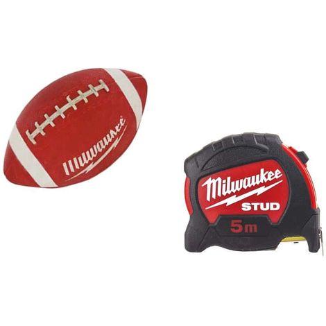 MILWAUKEE Pack 5m stud 27mm tape measure - American football