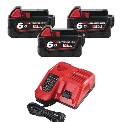 MILWAUKEE Pack M18 NRG-603 batteries 18V 3x6.0Ah - 4933464026