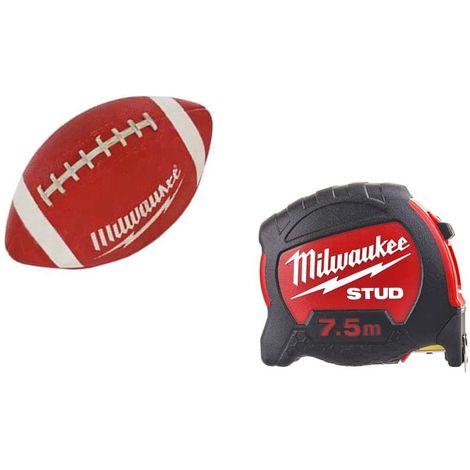 MILWAUKEE Pack Tape measure 7.5m stud 27mm - American football