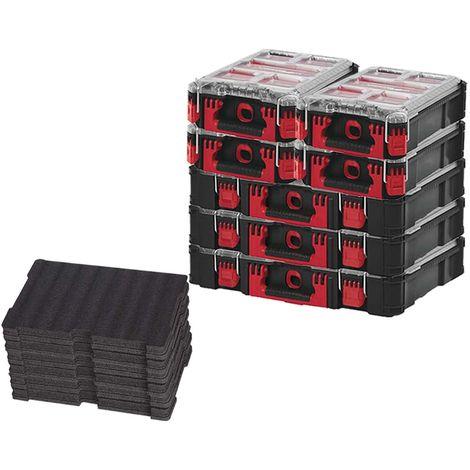 MILWAUKEE PACKOUT 3 Organizers 10 Thick Lockers - 4 Organizers 5 Lockers - 3 Customizable Inserts