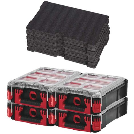 MILWAUKEE PACKOUT 4 Organizers 5 lockers - 2 Customizable inserts