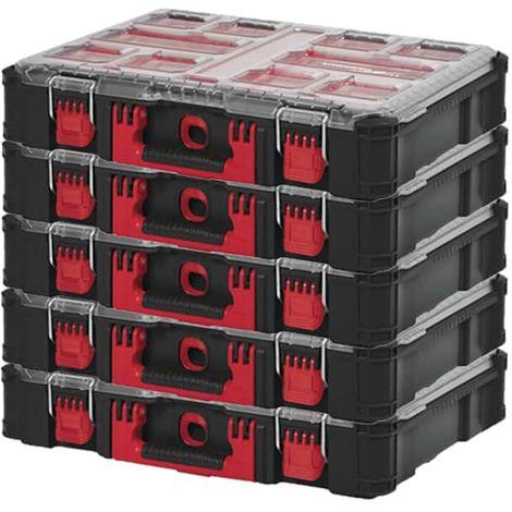 MILWAUKEE PACKOUT 5 Organizers 10 Thick Boxes Pack