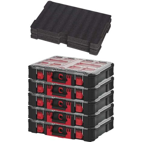 MILWAUKEE PACKOUT 5 Organizers 10 thick lockers - Customizable insert