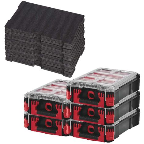MILWAUKEE PACKOUT 5 Organizers 5 lockers - 3 Customizable inserts