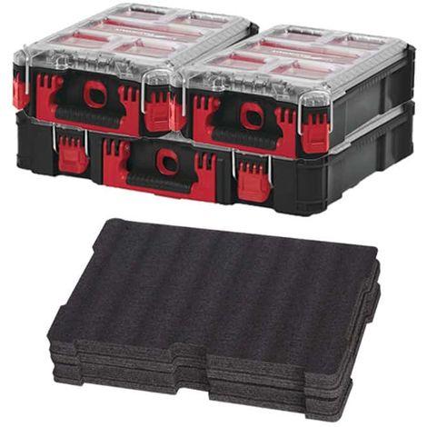 MILWAUKEE PACKOUT Organizer 10 thick lockers - 2 Organizers 5 lockers - customizable insert