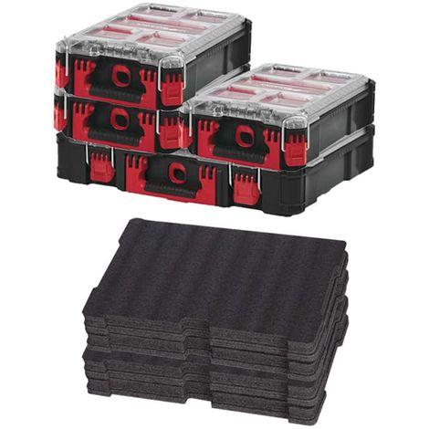 MILWAUKEE PACKOUT Organizer 10 thick lockers - 3 Organizers 5 lockers - 2 inserts customizable