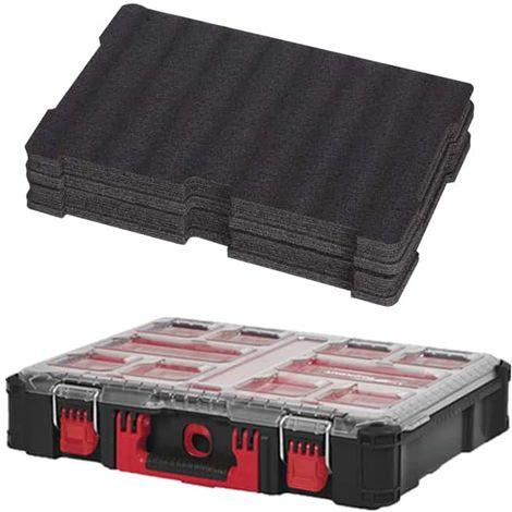 MILWAUKEE PACKOUT Organizer 10 thick lockers - Customizable insert