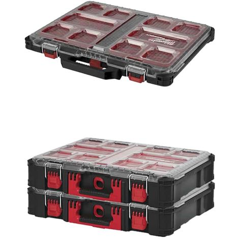 MILWAUKEE PACKOUT Organizer 10 thin racks - 2 Organizers 10 thick racks