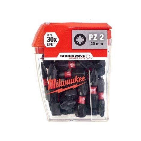 MILWAUKEE SCREWDRIVER BIT PZ2 25MM 25PC
