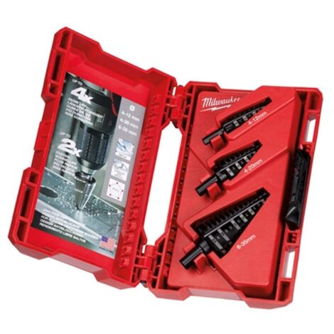 MILWAUKEE STEP DRILL BIT SET 3PC