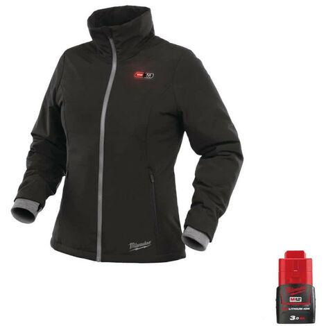 Milwaukee Women's Warm Jacket Black M12 HJLADIES2-0 Size M 4933464840 - Battery M12 12V 3.0Ah