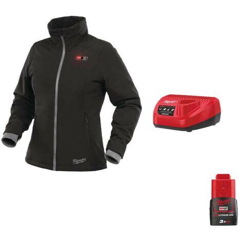 Milwaukee Women's Warm Jacket Black M12 HJLADIES2-0 Size XXL 4933464843 - Battery Charger 12V M12 C12 C - Battery M1