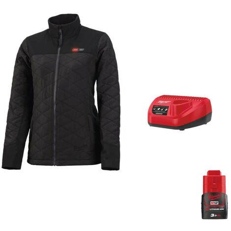 Milwaukee women's warm jacket M12 HJPLADIES-0 Size L 4933464342 - Charger 12V M12 C12 C - Battery M12 12V 3.0Ah