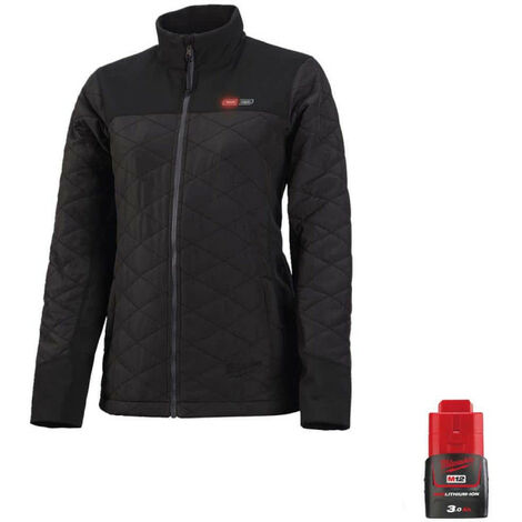 Milwaukee women's warm jacket M12 HJPLADIES-0 Size XL 4933464343 - Battery M12 12V 3.0Ah