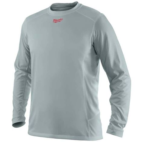 MILWAUKEE Workskin long sleeve T-shirt - Grey - Size XL - WWLSG - 4933464196
