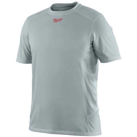 MILWAUKEE Workskin Short Sleeve T-Shirt - Grey - Size XL - WWSSG -4933464204