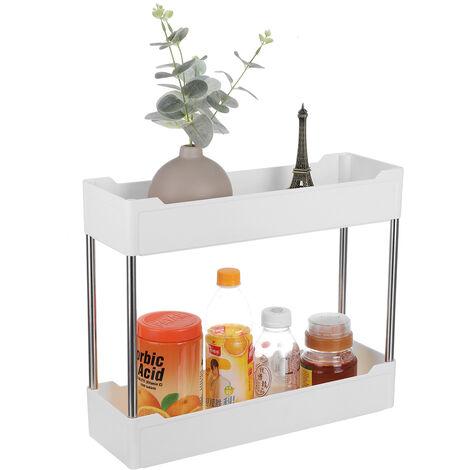 mince chariot chariot support de rangement coulissant cuisine salle de bain étagère rack sur roues 2ème étage sans roues