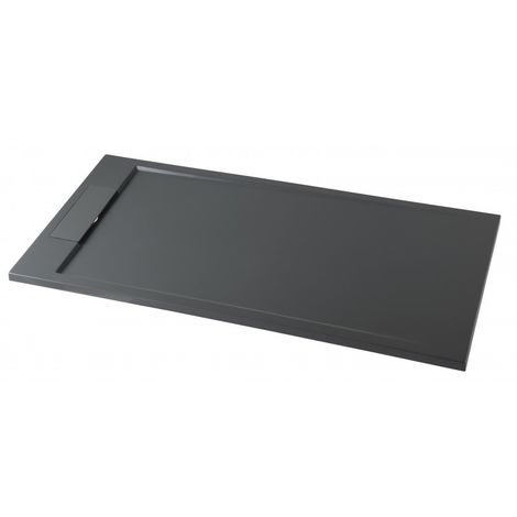 Mineralguss Duschtasse rechteckig M2290CG / PB3085GG - Grau glänzend - 120x90x3,5cm